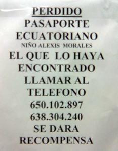 busca pasaporte perdido